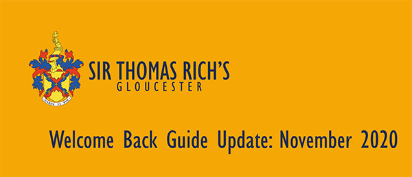 Welcome Back Guide November 2020 - Click to read